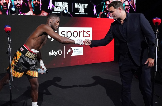 Promoter Eddie Hearn revealed that JB would return in July Photo Credit: Dave Thompson/Matchroom Boxing