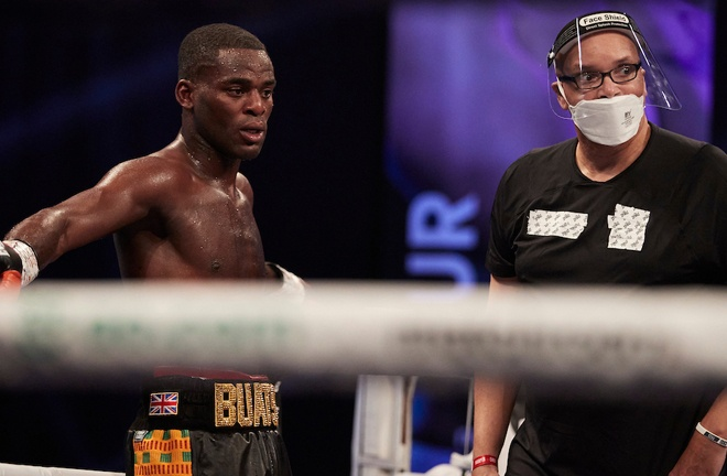 Buatsi claimed a first win under new trainer Virgil Hunter Photo Credit: Mark Robinson/Matchroom Boxing