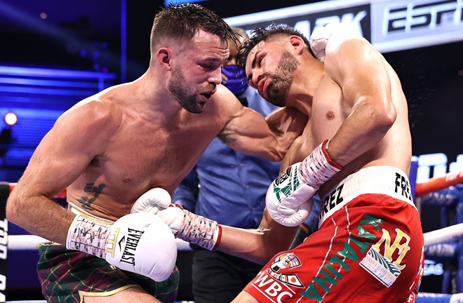 Ramirez had his moments during a pulsating battle Photo Credit: Mikey Williams/Top Rank via Getty Images