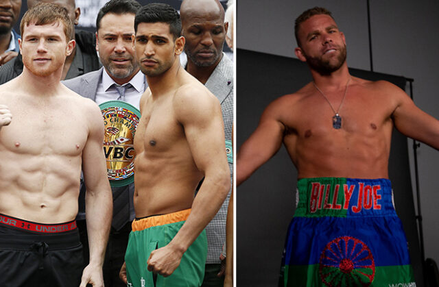 Amir Khan believes that Canelo Alvarez will stop Billy Joe Saunders in six rounds on Saturday Photo Credit: Action Images/Andrew Couldridge/Michelle Farsi/Matchroom