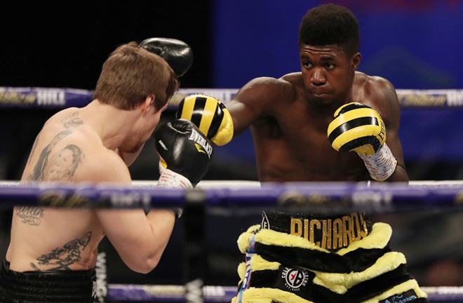 Richards overcame Timo Laine on points in December Photo Credit: Mark Robinson/Matchroom Boxing