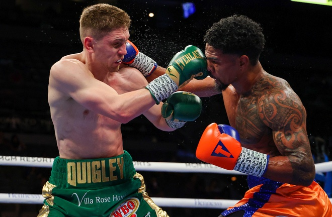 Jason Quigley battled past Shane Mosley after a gripping Middleweight contest Photo Credit: Ed Mulholland/Matchroom Boxing