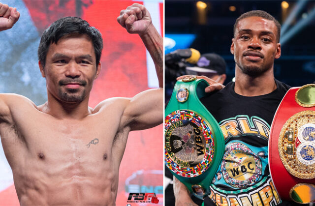 Manny Pacquiao clashes with unified Welterweight world champion Errol Spence Jr on August 24 in Las Vegas Photo Credit: Pro Boxing Fans/Ryan Hafey/Premier Boxing Champions