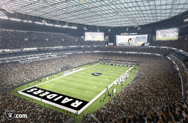 Arum says he has reserved the Allegiant Stadium in Las Vegas for July 24 Photo Credit: www.raiders.com