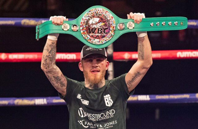 Sam Eggington picked up the WBC Silver Middleweight title with a unanimous decision win over Carlos Molina Photo Credit: Hennessy Sports