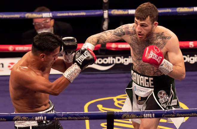 Eggington claimed his 30th professional victory against Molina Photo Credit: Hennessy Sports