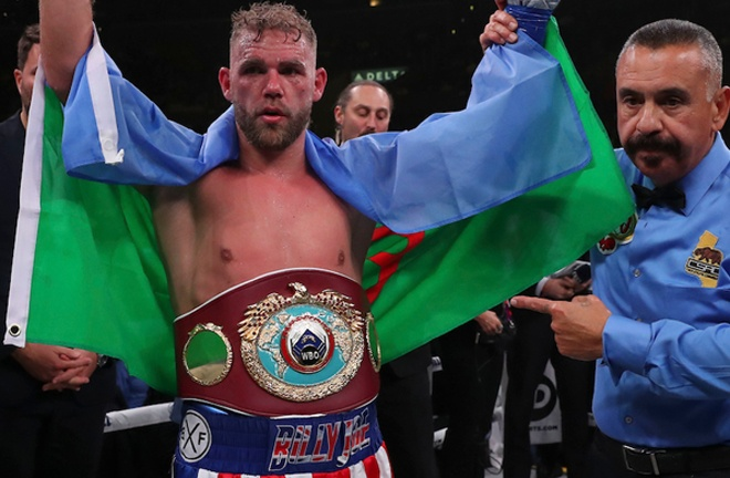 Saunders looks to shock the world against Canelo in Texas on Saturday Photo Credit: Ed Mulholland/Matchroom Boxing USA