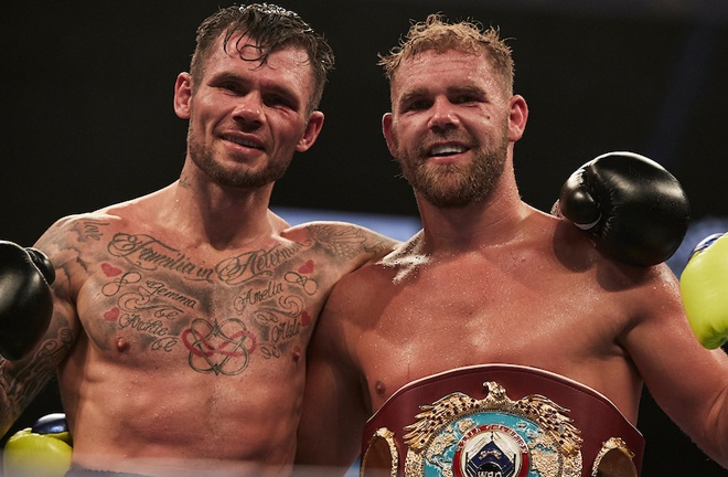 Saunders defended his WBO Super Middleweight world title for the second time against Martin Murray in December Photo Credit: Mark Robinson/Matchroom Boxing