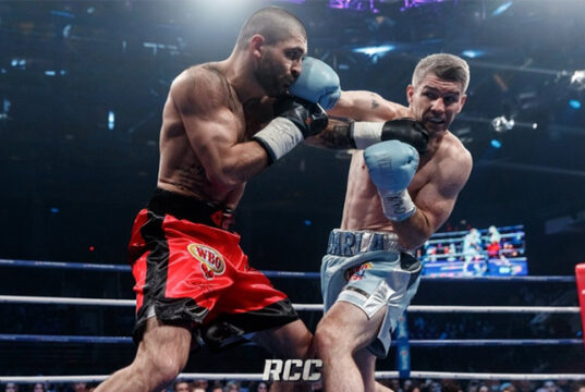 Liam Smith suffered a setback in Russia after a controversial points loss to Magomed Kurbanov on Friday Photo Credit: RCC Boxing Promotions