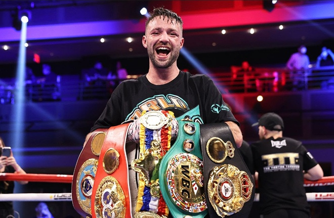 Taylor is the first Briton to hold all four major belts simultaneously Photo Credit: Mikey Williams/Top Rank via Getty Images