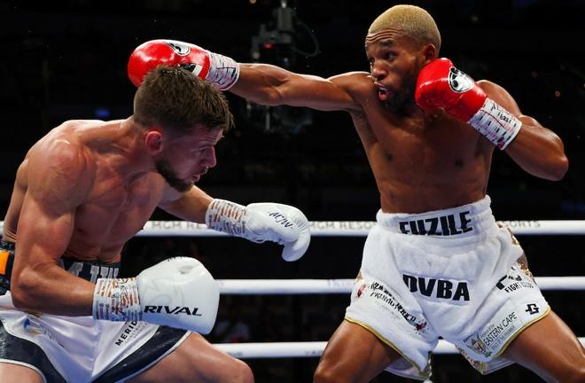 Martin J Ward was beaten by Azinga Fuzile in their IBF Super Featherweight final eliminator Photo Credit: Ed Mulholland/Matchroom