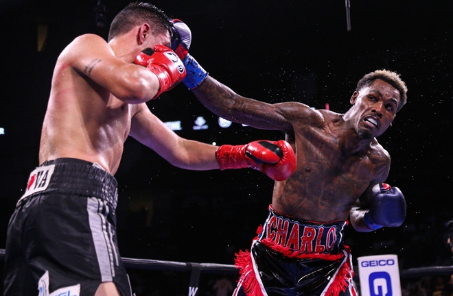 Charlo put on a dominant performance to claim a unanimous decision over Montiel Photo Credit: Leo Wilson / Premier Boxing Champions