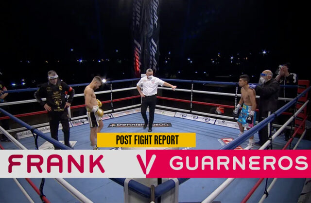 Tommy Frank suffered his second consecutive defeat, as Rosendo Hugo Guarneros defended his IBF Intercontinental Flyweight title with a split decision win over twelve rounds in Sheffield last night. Photo Credit: Fightzone.tv.
