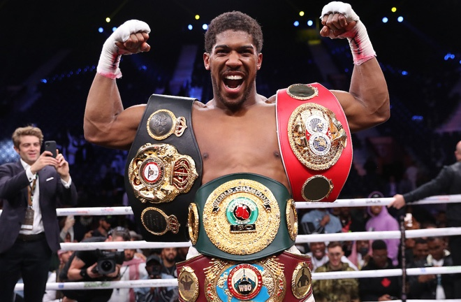 Unified Heavyweight champion, Anthony Joshua could await the winner Photo Credit: Mark Robinson/Matchroom Boxing