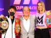 Inoue and Mayer were both victorious last night in Las Vegas. Photo Credit: Bob Arum / Top Rank