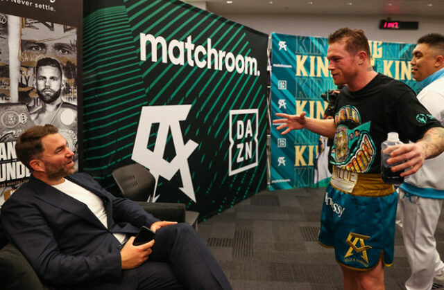 Matchroom, DAZN, Canelo and Eddy Reynoso will bring a new fight series to Mexico starting on June 26 Photo Credit: Ed Mulholland/Matchroom