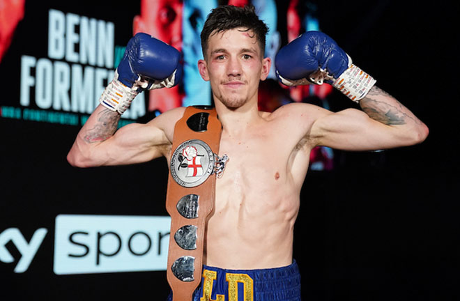 Davies claimed the English title last November Photo Credit: Dave Thompson/Matchroom Boxing