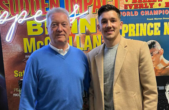 English Bantamweight champion, Liam Davies has inked a promotional deal with Frank Warren Photo Credit: Queensberry Promotions