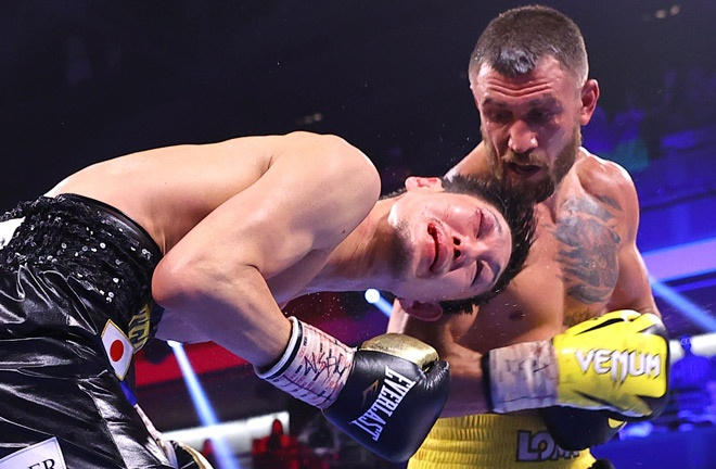 Lomachenko dominated proceedings in Las Vegas Photo Credit: Photo Credit: Mikey Williams/Top Rank via Getty Images
