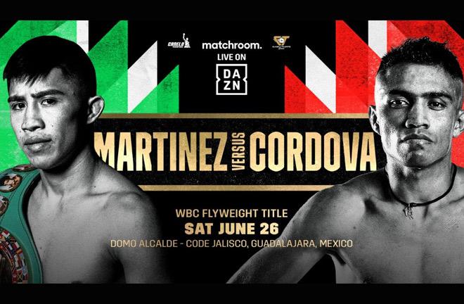Julio Cesar Martinez will defend his WBC Flyweight world title against Joel Cordova on the opening show in Guadalajara