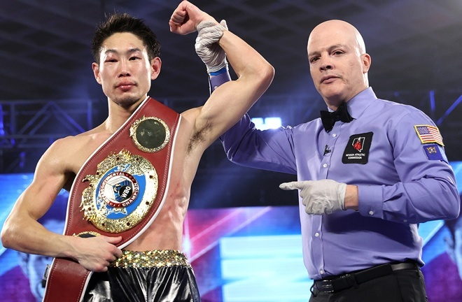 Nakatani claimed the WBO Inter-Continental Lightweight title with victory over Felix Verdejo in December Photo Credit: Mikey Williams/Top Rank via Getty Images