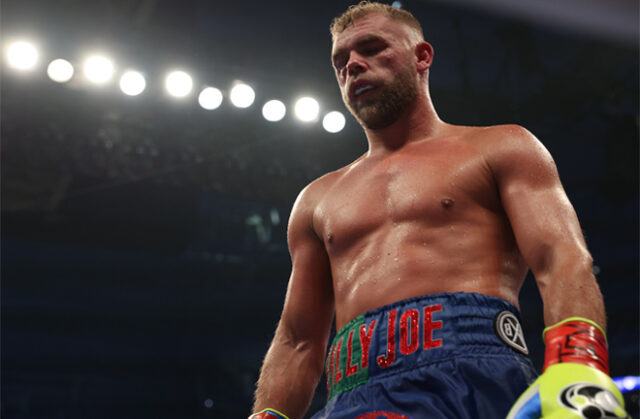 Billy Joe Saunders has responded to claims that he quit against Canelo Alvarez Photo Credit: Michelle Farsi/Matchroom