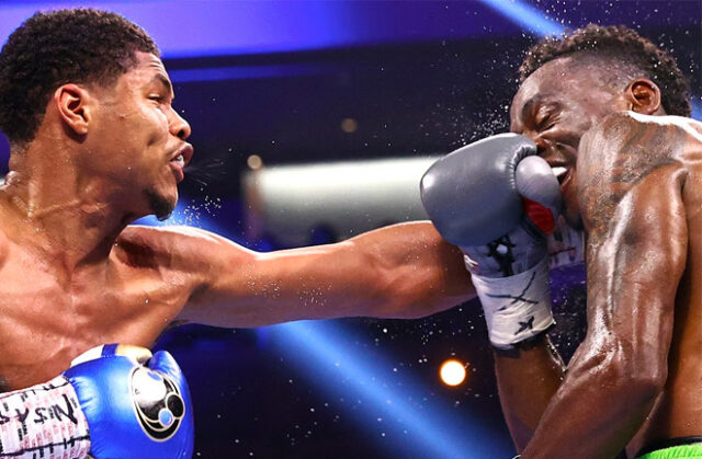 Shakur Stevenson claims the interim WBO Super Featherweight title after dominating all 12 rounds against Jeremia Nakathila.