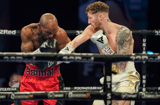 Parker stopped Vaughn Alexander in two rounds in March Photo Credit: Round 'N' Bout Media/Queensberry Promotions