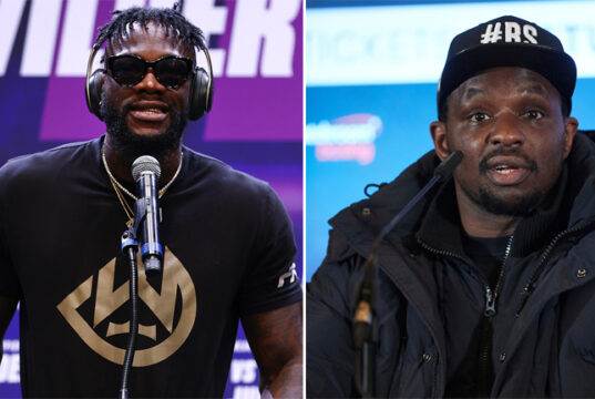 Deontay Wilder and Dillian Whyte have reignited their long-running feud in recent days Photo Credit: Mikey Williams/Top Rank via Getty Images/Mark Robinson/Matchroom