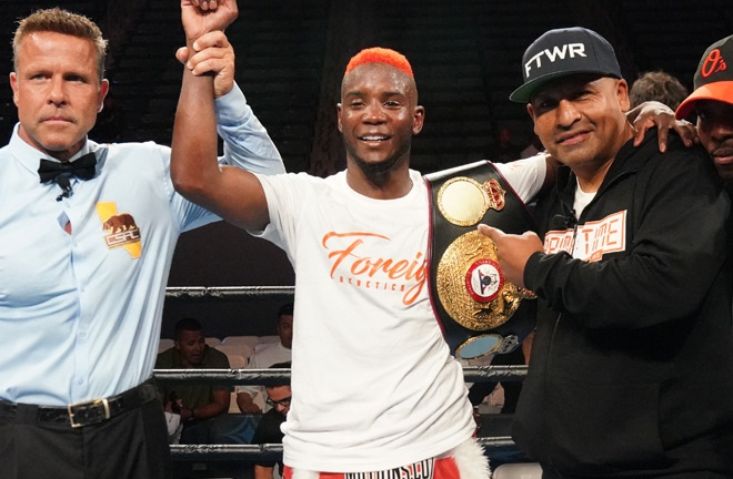 Colbert successfully defended his WBA Interim Super Featherweight title Photo Credit: Sean Michael Ham/ Premier Boxing Champions
