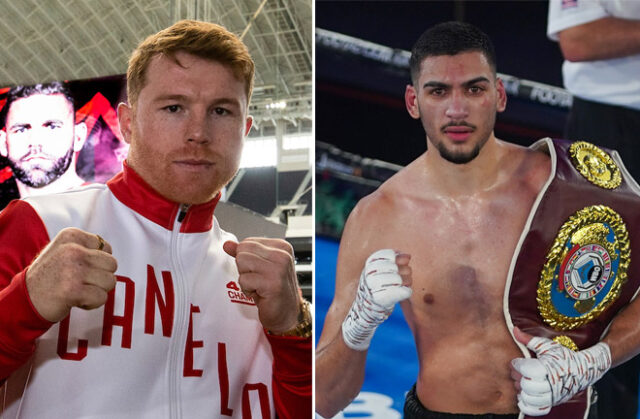 Hamzah Sheeraz can reach the level of Canelo Alvarez, his trainer Ricky Funez believes Photo Credit: Michelle Farsi/Matchroom/Round 'N' Bout Media/Queensberry Promotions