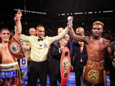 Jermell Charlo and Brian Castano were held to a split decision draw in their undisputed fight Photo Credit: Amanda Westcott/SHOWTIME