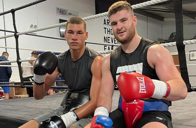 Fletcher alongside stablemate Johnny Fisher Photo Credit: tibbsboxinglondon Instagram