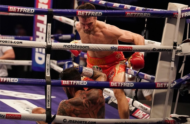 Anthony Fowler knocked out Jorge Fortea in three rounds in March Photo Credit: Dave Thompson/Matchroom Boxing