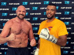 George Fox has spent two camps with Tyson Fury ahead of his fourth professional fight on Saturday night Photo Credit: Instagram @gfoxboxing