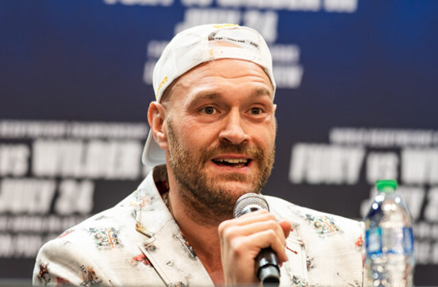 Tyson Fury says he will reduce his team for his trilogy with Deontay Wilder Photo Credit: Ryan Hafey / Premier Boxing Champions