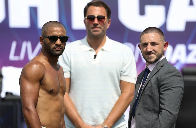 Kid Galahad and Jazza Dickens clash for the vacant IBF Featherweight world title on August 7 Photo Credit: Mark Robinson/Matchroom Boxing