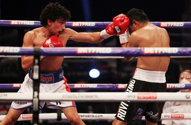 Gill saw off Cesar Juarez in February Photo Credit: Mark Robinson/Matchroom Boxing