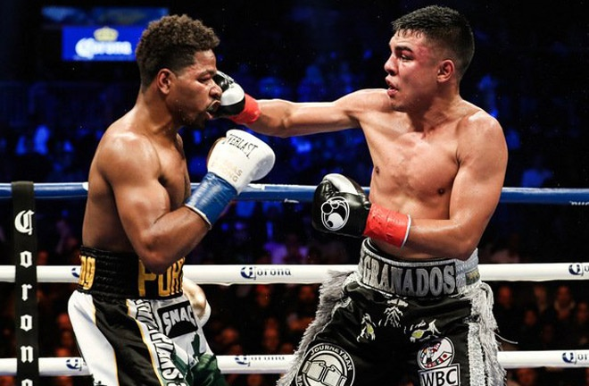Granados went the distance in defeat to former world champion, Shawn Porter in 2017 Photo Credit: Amanda Westcott/SHOWTIME