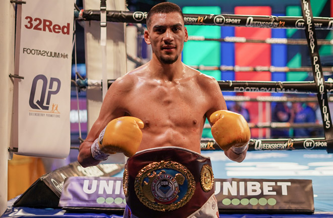 Hamzah Sheeraz makes a third defence of his WBO European super welterweight crown Photo Credit: Round 'N' Bout Media/Queensberry Promotions