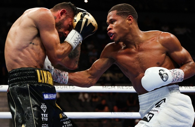 Devin Haney defeated Jorge Linares in May to retain his WBC Lightweight world title Photo Credit: Ed Mulholland/Matchroom
