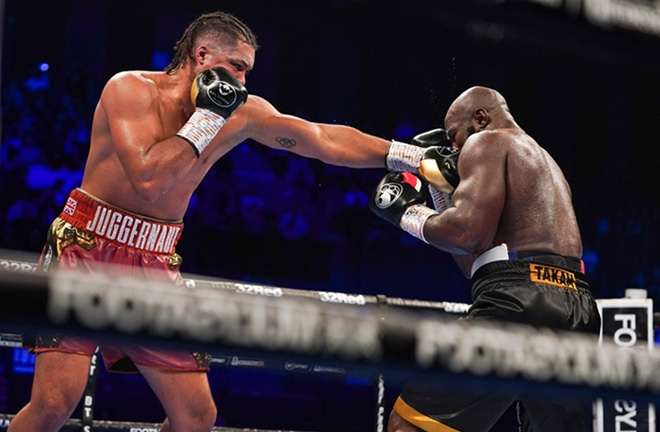 Joe Joyce stopped Carlos Takam in the sixth round to stay on course for a world title shot Photo Credit: Queensberry Promotions
