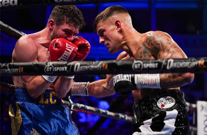 Sam Noakes forced a corner retirement after three rounds to make it six stoppages from as many wins Photo Credit: Round 'N' Bout Media/Queensberry Promotions