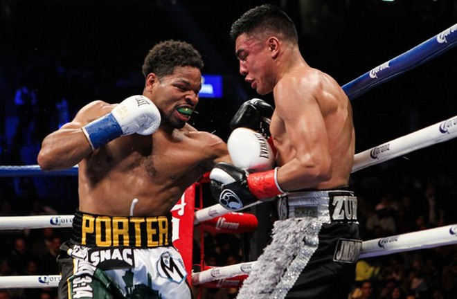 Granados went the distance in defeat to Shawn Porter in 2017 Photo Credit: Tom Casino/SHOWTIME
