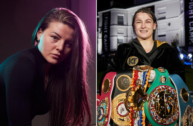 Sandy Ryan is hoping to be mentioned alongside Katie Taylor one day as she prepares to make her professional debut at Fight Camp on Saturday Photo Credit: Mark Robinson/Matchroom Boxing