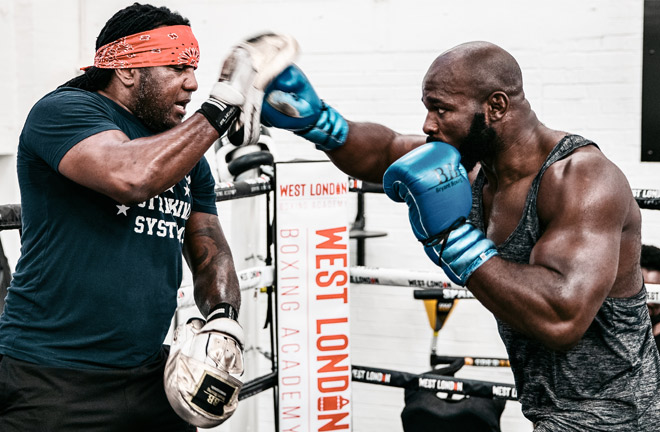 Takam pictured training in London this week Photo Credit: Queensberry Promotions