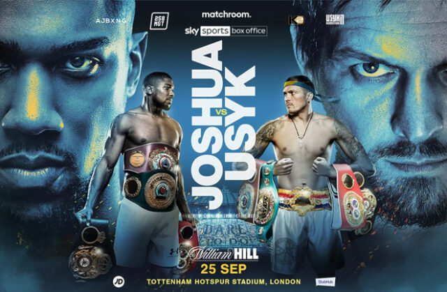Anthony Joshua will defend his unified heavyweight world titles against Oleksandr Usyk at Tottenham Hotspur Stadium on September 25th