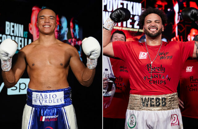 Fabio Wardley defends his English Heavyweight title against Nick Webb at Fight Camp on August 7th Photo Credit: Dave Thompson/Mark Robinson/Matchroom Boxing