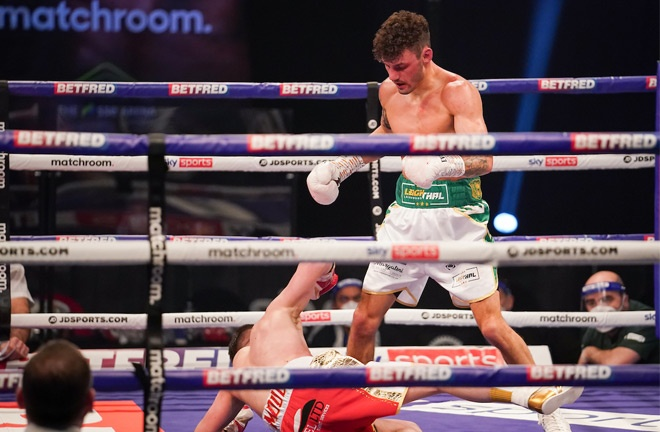Wood stopped Reece Mould in February Photo Credit: Dave Thompson/Matchroom Boxing