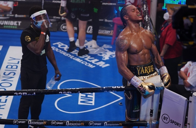 Anthony Yarde makes his long-awaited return Photo Credit: Round 'N' Bout Media/Queensberry Promotions